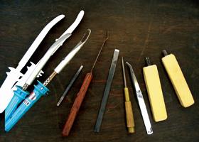 保存科学修復の道具